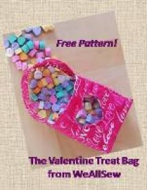 Valentine Treat Bag - Free Apttern