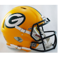 Green Bay Packers Riddell Revolution Speed Full Size Authentic Football Helmet