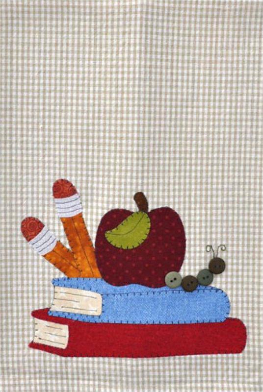P19 School Books Patternlet