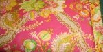 Fabric Kits - Anna Griffin Pink florals and paisley with orange accents