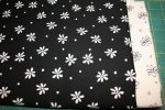 Fabric Kits - Black and Cream Whimsical Flowers