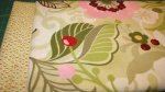 Fabric Kits - Flowers and Vines in pink and green with a charming small print