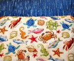 Fabric Kits - Sea Creatures and Dark Blue