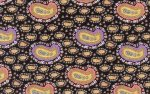 Kaffe Fassett-Liberty Art-Paisley-Babushka-LB02-Black