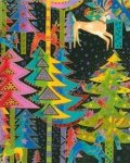 Clothworks-Laurel Burch-Holiday Celebration-LB-Y0801-3M