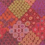 Kaffe Fassett-Tile Flower-KF-GP125-BROWN