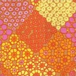 Kaffe Fassett-Tile Flower-KF-GP125-GOLD