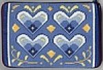 Blue & White Hearts Purse/Cosmetic Case