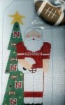 U of Nebraska Santa w/Football