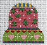 Hearts & Holly Nordic Bell