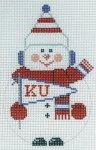 University of Kansas Snowman