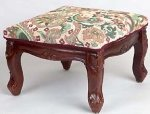 Louis XV Square Carved Footstool