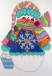 The Snowflake Patchwork Snowman