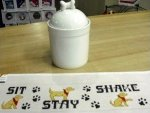 Dog Treat Jar and Canvas