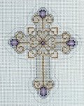 Cross Silver, Gold & Purple
