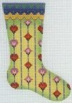 Skinny Mini Sock Diamond & Heart Pattern
