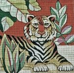 Trubey Needlepoint<BR>Tiger