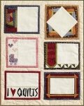 Paper Pieced Quilt Labels #4 - Scraps of Time