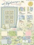 Hydrangea Radiance Kit - Quilt Size 90 x 110 - by GP Creations - WIlmington Fabrics