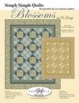 Blossoms Quilt 69.5 x 85.5 finished size - shades of blue - K10260