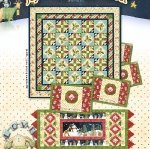 Stars & Holly Runner & Placemats - joy,love,peace, noel line of Henry Glass Fabrics - K10566