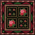 Poinsettias Quilt 69x69 by Exclusively Quilters