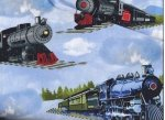 Timeless Treasures Trains by Gail Cadden C9166
