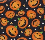 Timeless Treasures Halloween Jack-o-Lanterns c8942