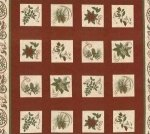 Northwoods Botanicals Panel - flowers/red (100604)