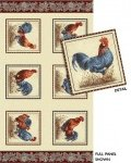 Rooster Fields Panel - multi/sand (110887)