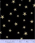 By The Sea Stars - gold/black  (120312)
