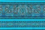 Kashmir Stripe by Jinny Beyer - Turquoise