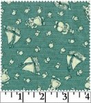 Aunt Grace 30's Print Green