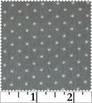 Marcus Bros Sachet Flannel II Grey with White Dots