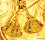 DeClercq Clarence House Embrasse Passimenterie Tassel Handmade in Paris France Jasmine Silk Double Tassel Tieback CHDC237