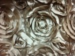 Satin Rose Flower Applique Apparel Fabric Event Fabric Champagne KOS006