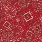Bunk House Bandana Real Red - 15490 40