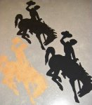 Bucking Horse/Wyoming Cowboy Applique Cut-out