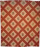 BRODERIE PERSE DOUBLE IRISH CHAIN ANTIQUE QUILT