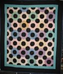 AMISH OCTAGONS BOWTIE ANTIQUE QUILT, Holmes County, Ohio