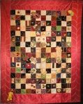 CRAZY SQUARES ANTIQUE SILK QUILT