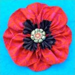 Fabric Flower Pattern- Proud Poppy Brooch by La Todera