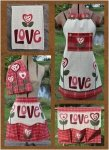 Just 2 Tea Towels- Love Set