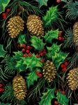 Blank Quilting-Tis the Season-Pine Cones Black-6057