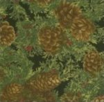 Moda-Woodland Holiday-Pine Cones-Black-32282-14