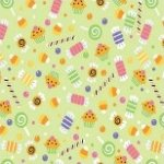 Riley Blake TRICK OR TREAT Fabric #C2532 Candy Green