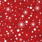 O' TINSEL TREE - Holiday Celebration Snowflakes and Stars Crimson (11171-91)