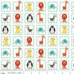Riley Blake Designs Alphabet Soup Boy Squares Animal