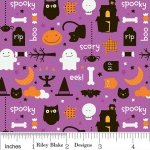 Riley Blake TRICK OR TREAT Fabric - Night Purple Halloween