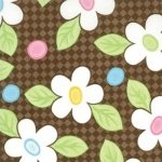 Sale Moda Birdie Happy Flowers Brown